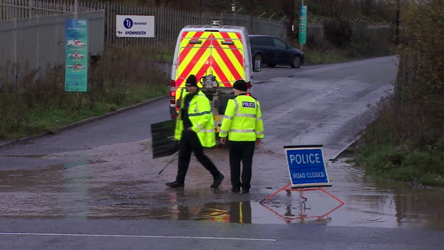 emergency services at wessex water sewage treatment works in avonmouth, where explosion in a silo containing biosolids killed four employees - environmental issues stock videos & royalty-free footage