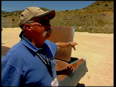 Emergency services train for terrorist attack USA New Mexico Socorro Energetic Materials Research Centre Countdown and explosion in government...