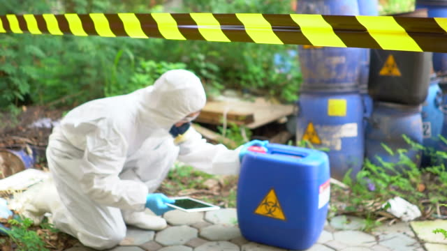 Emergency Team checking Biohazard Leak