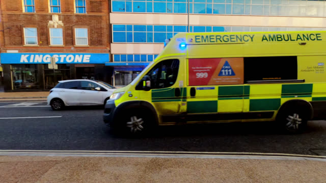 emergency vehicle in city - ambulance stock videos & royalty-free footage