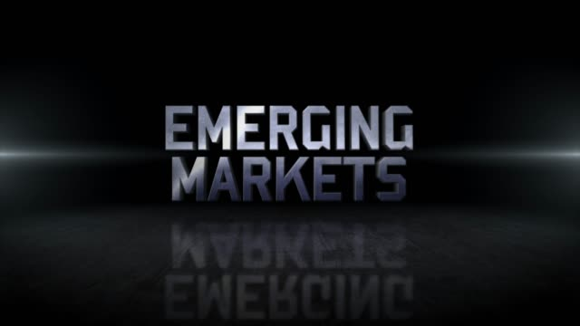 emerging markets word 4k business digital technology concept stock video - emergere video stock e b–roll