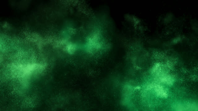 emerging particle cloud (green) - green background stock videos & royalty-free footage