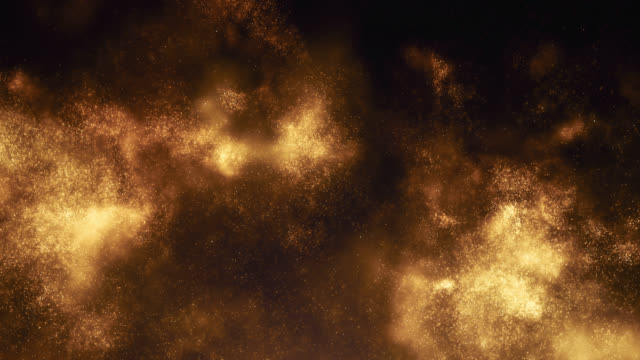 emerging particle cloud (gold) - gold coloured stock videos & royalty-free footage