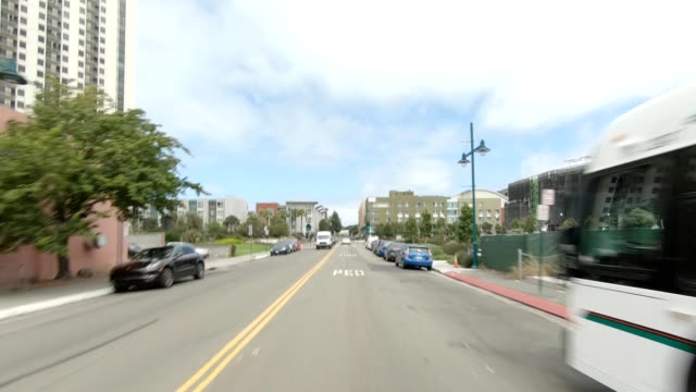 emeryville california i synced series front view driving process plate - emeryville stock videos & royalty-free footage