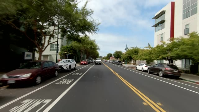 emeryville california iii synced series rear view driving process plate - emeryville stock videos & royalty-free footage