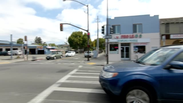emeryville california ix synced series right view driving process plate - emeryville stock videos & royalty-free footage