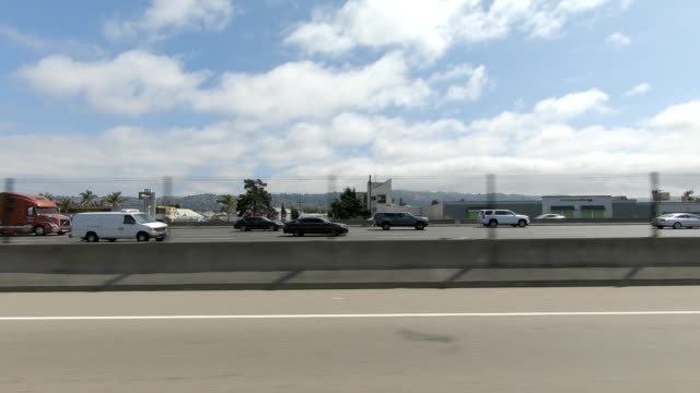 emeryville california xi synced series left view driving process plate - emeryville stock videos & royalty-free footage