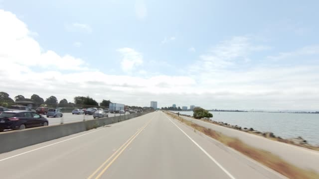 emeryville california xii synced series front view driving process plate - emeryville stock videos & royalty-free footage
