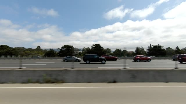 emeryville california xii synced series left view driving process plate - emeryville stock videos & royalty-free footage