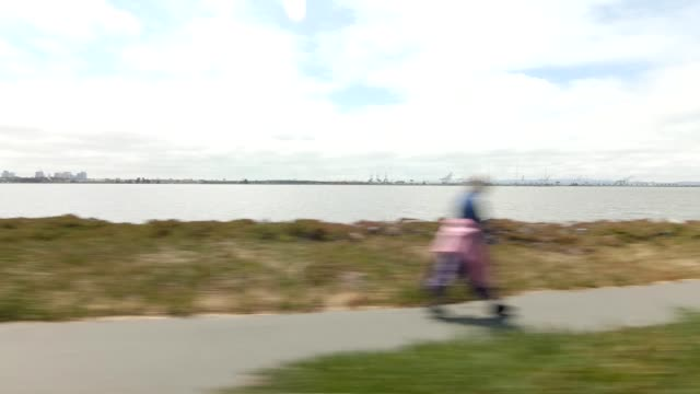 emeryville california xvi synced series right view driving process plate - emeryville stock videos & royalty-free footage