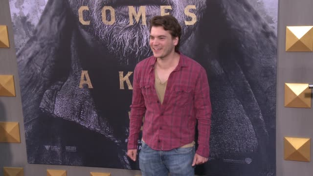 emile hirsch at the 'king arthur: legend of the sword' premiere at tcl chinese theatre on may 08, 2017 in hollywood, california. - tcl chinese theatre video stock e b–roll