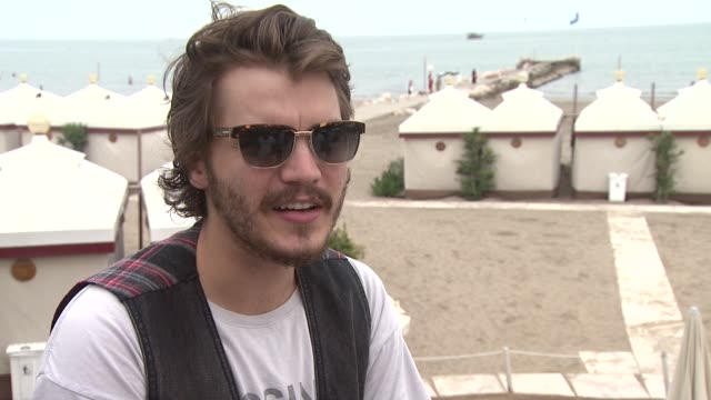emile hirsch on 'the chicken drumstick' scene at the killer joe interviews venice film festival 2011 at venice - chicken wire stock videos and b-roll footage