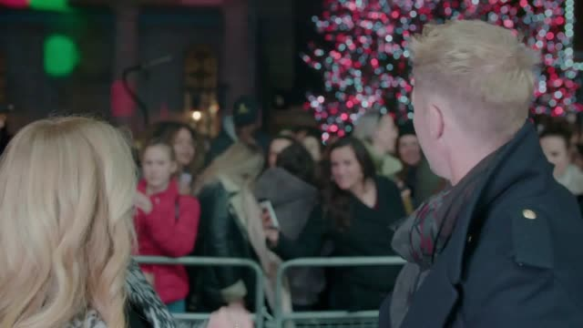 emilia clarke and dame emma thompson joined crowds of festive revellers at covent garden's christmas lights celebration when the shopping district... - ronan keating stock videos & royalty-free footage