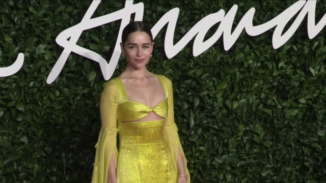 emilia clarke jourdan dunn ellie goulding and more on the red carpet for the british fashion awards 2019 held at the royal albert hall in london... - design stock videos & royalty-free footage