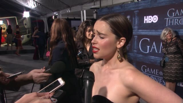 INTERVIEW Emilia Clarke on that she's here at the TCL Chinese Theater and what it means to have her show premiere at such an iconic Hollywood theater...