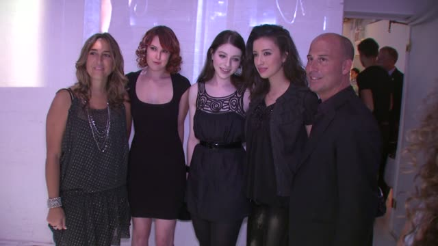 emilia fabricant, rumer willis, michelle trachtenberg, christian serratos and john goodman at the charlotte russe fall 2009 launch event at new york... - michelle trachtenberg stock videos & royalty-free footage