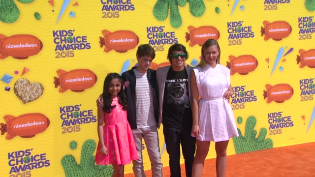 emilia mccarthy jake goodman saara chaudry and jonny gray at nickelodeon's 28th annual kids' choice awards at the forum on march 28 2015 in inglewood... - nickelodeon stock videos & royalty-free footage