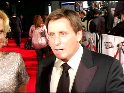 emilio estevez on directing the film and the film's importance to him at the 'bobby' premiere arrivals at grauman's chinese theatre in hollywood,... - emilio estévez video stock e b–roll