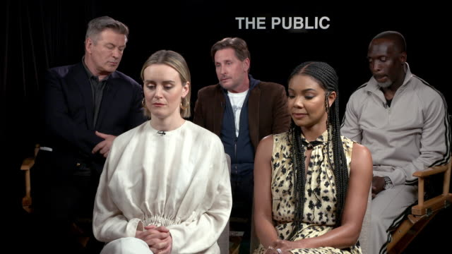 """emilio estevez talks about putting together a diverse cast, the length of the script, and how he was able to put together a great cast at """"the... - emilio estévez video stock e b–roll"""