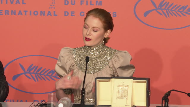 INTERVIEW Emily Beecham on performance her character at Closing Ceremony Press Conference ' The 72nd Cannes Film Festival on May 25 2019 in Cannes...