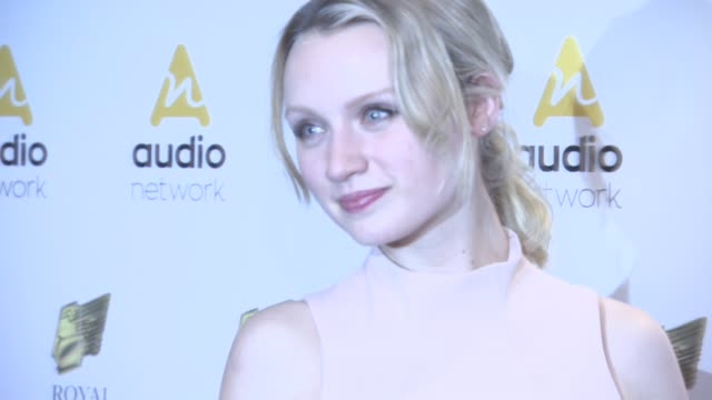 emily berrington at royal television society programme awards at grosvenor house, on march 22, 2016 in london, england. - emily berrington stock videos & royalty-free footage