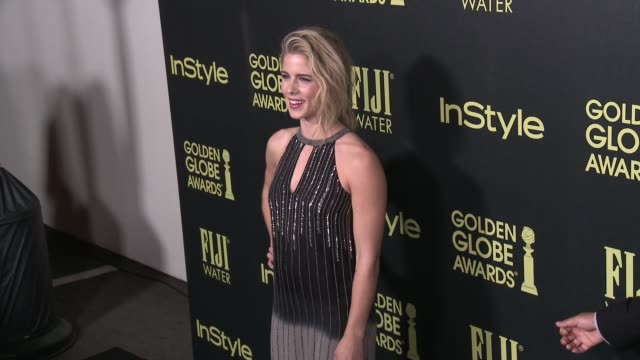 Emily Bett Rickards at the Hollywood Foreign Press Association And InStyle Celebrate The 2016 Golden Globe Award Season at Ysabel on November 17 2015...