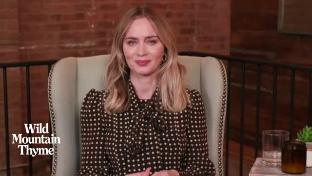 emily blunt, actress, on using a rain machine while shooting in ireland at 'wild mountain thyme' - interview on december 08, 2020 in london, england. - performer stock videos & royalty-free footage
