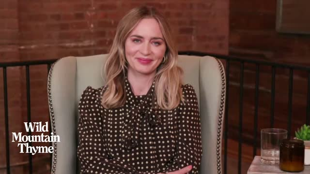 emily blunt, actress, on whether her character's relentless pursuit of the man she loves is feminist on december 08, 2020 in london, england. - performer stock videos & royalty-free footage