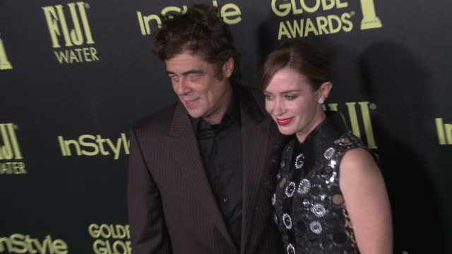 Emily Blunt and Benicio Del Toro at the Hollywood Foreign Press Association And InStyle Celebrate The 2016 Golden Globe Award Season at Ysabel on...