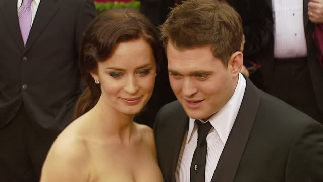 Emily Blunt and Michael Buble at the 2007 Academy Awards Arrivals at the Kodak Theatre in Hollywood California on February 25 2007