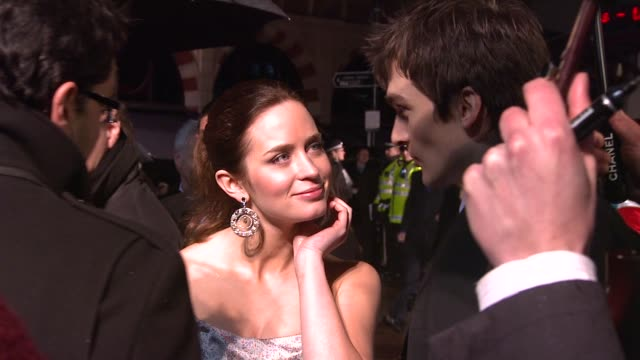 Emily Blunt and Rupert Friend at the The Young Victoria World Premiere at London