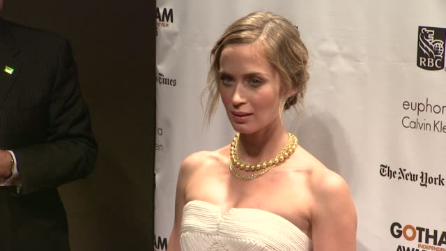 emily blunt at the 22nd annual gotham independent film awards at cipriani wall street on november 26, 2012 in new york, new york - independent feature project stock videos & royalty-free footage