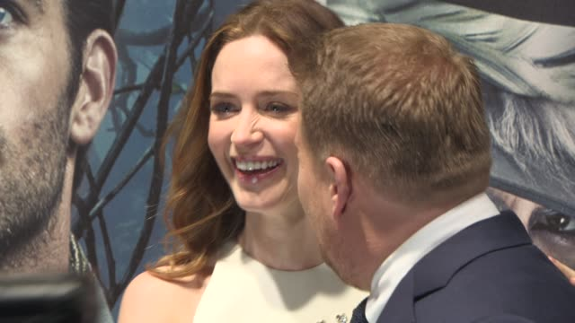 Emily Blunt James Corden at 'Into The Woods' UK Film Premiere at The Curzon Mayfair on January 07 2015 in London England