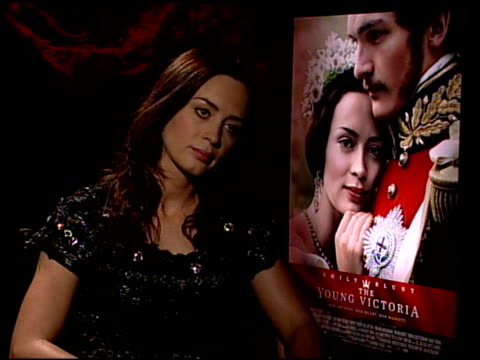 Emily Blunt on researching Queen Victoria at the 'The Young Victoria' Junket at Los Angeles CA