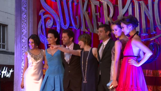 Emily Browning Abbie Cornish Vanessa Hudgens Jenna Malone Jamie Chung Carla Gugino Zack Snyder at the Sucker Punch UK Premiere at London England
