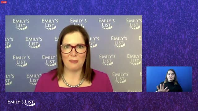 emily cain speaks during the emily's list fourth annual pre-oscars event on tuesday, april 20, 2021. - oscar party stock videos & royalty-free footage