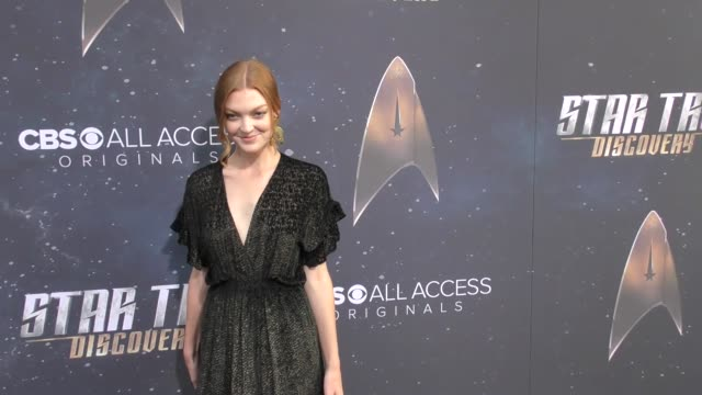emily coutts at the premiere of cbs's 'star trek discovery' on september 19 2017 in los angeles california - television show stock videos & royalty-free footage