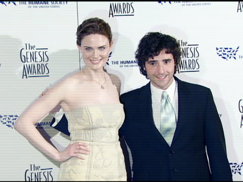 Emily Deschanel and David Krumholtz at the 2008 Genesis Awards at the Beverly Hilton in Beverly Hills California on March 30 2008