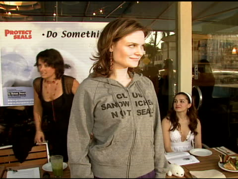 emily deschanel at the celebrity save the seal day: press conference hosted by celebrities against the seal hunt on march 28, 2007. - aquatic organism stock videos & royalty-free footage