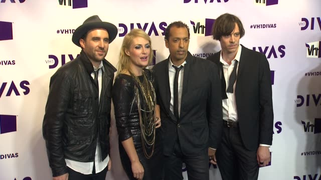 emily haines james shaw josh winstead joules scottkey at vh1 divas 2012 on in los angeles ca - vh1 divas stock videos and b-roll footage
