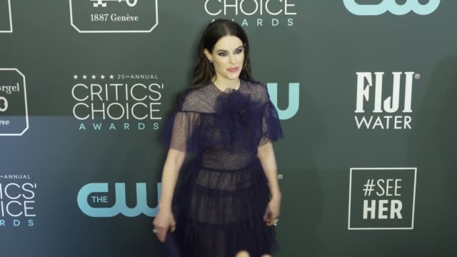 emily hampshire at the 25th annual critics' choice awards at barker hangar on january 12 2020 in santa monica california - gif stock videos and b-roll footage