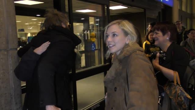 Emily Kinney arriving to the Sundance Film Festival at Salt Lake City Airport in Utah in Celebrity Sightings in Park City UT
