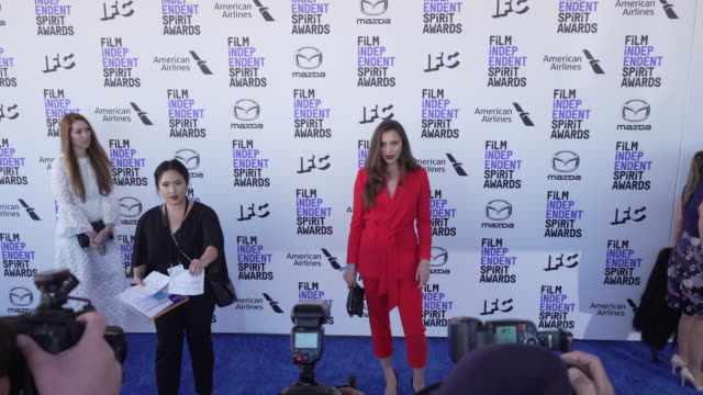 emily korteweg at the 2020 film independent spirit awards on february 08 2020 in santa monica california - film independent spirit awards stock videos & royalty-free footage