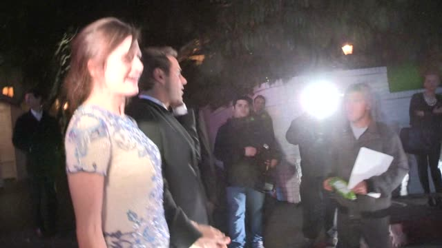 stockvideo's en b-roll-footage met emily mortimer & alessandro nivola on south africa at the 2014 golden globe after party at chateau marmont in west hollywood in celebrity sightings... - alessandro nivola