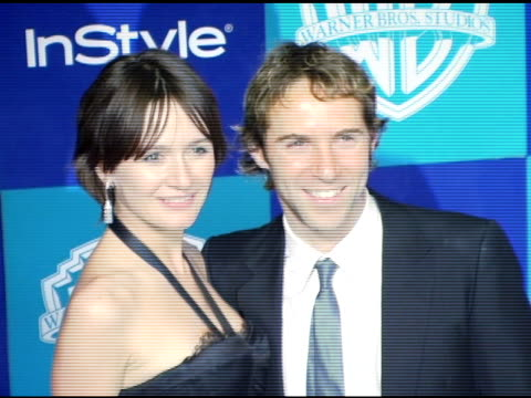 stockvideo's en b-roll-footage met emily mortimer and alessandro nivola at the instyle/warner brothers golden globes party at the beverly hilton in beverly hills, california on january... - alessandro nivola