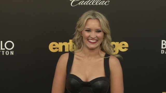 """emily osment at """"entourage"""" los angeles premiere at regency village theatre on june 01, 2015 in westwood, california. - regency village theater stock videos & royalty-free footage"""