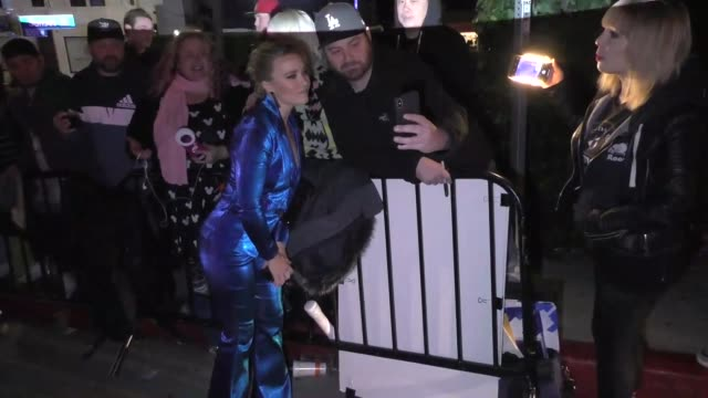emily osment outside the entertainment weekly prescreen actors guild awards party at chateau marmont in los angeles at celebrity sightings in los... - entertainment weekly stock videos & royalty-free footage
