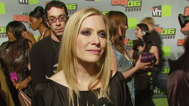 emily proctor on the success of csi:miami, the biggest surprise of her '06, what's ahead in 2007 at the vh1 big in '06 at sony studios in culver... - vh1ビッグインアワード点の映像素材/bロール