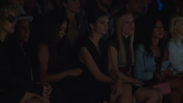 Emily Ratajkowski and Chloe Sevigny at Vera Wang September 2016 New York Fashion Week at The Arc Skylight at Moynihan Station on September 13 2016 in...