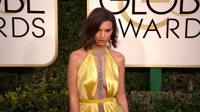 Emily Ratajkowski at 74th Annual Golden Globe Awards Arrivals at The Beverly Hilton Hotel on January 08 2017 in Beverly Hills California 4K